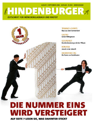 Cover HINDENBURGER August 2008